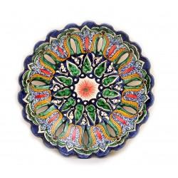 Декоративная тарелка с рифлеными краями