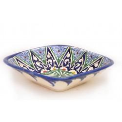 Салатница из керамики квадратная
