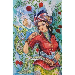 """Cреднеазиатская миниатюра """"Гранатовый рай"""""""