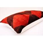 Наволочка красный ромбик 38 x 60 см