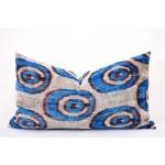 Чехол для подушки вельвет икат 38 x 60 см