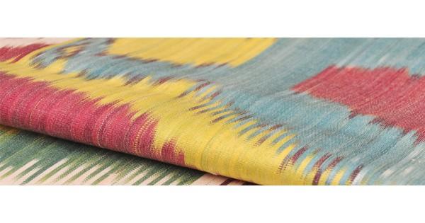 Ткань икат купить узбекистан ткань с металлизированной нитью